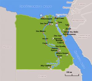 egypt map 300x266 - Египет