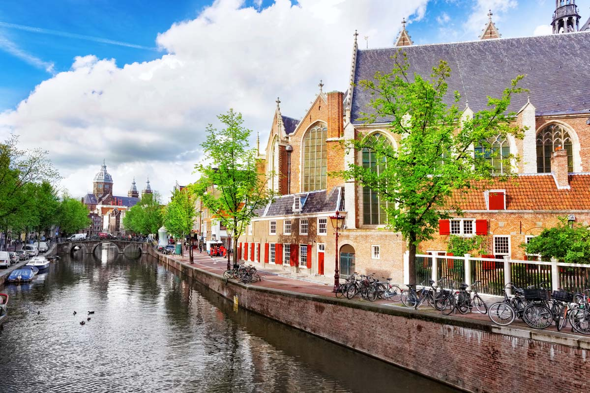 Uyutnye domiki vdol kanala Amsterdam - Мои голландские тюльпанчики!