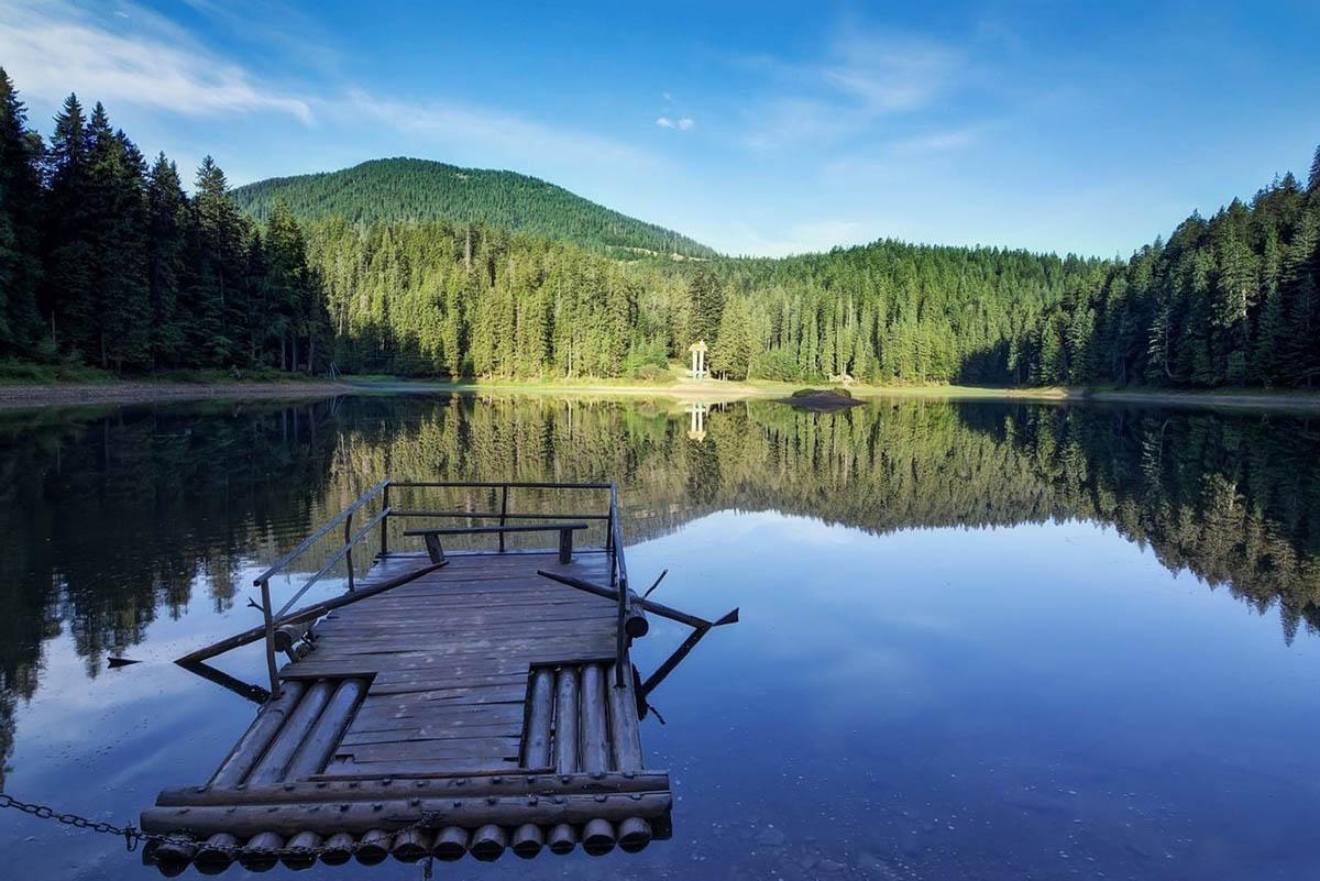 ozero Sinevir v Zakarpate Zapadnaya Ukraina - Релакс по закарпатски