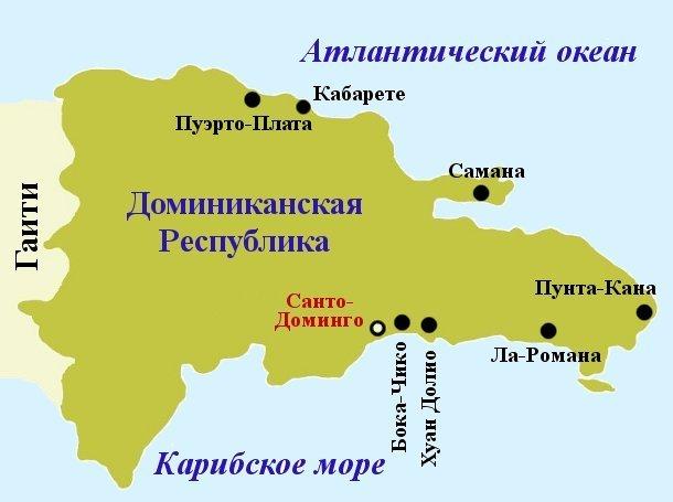 dominicana map - Домінікана