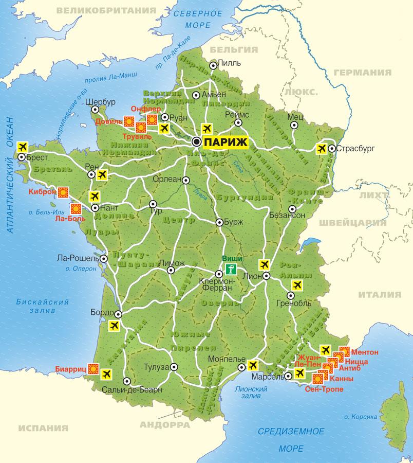 karta franciji 5 - Франция