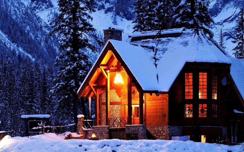 Winter Light Forest House Tree Snow Landscape Nature Hd Wallpapers 1080p 3d
