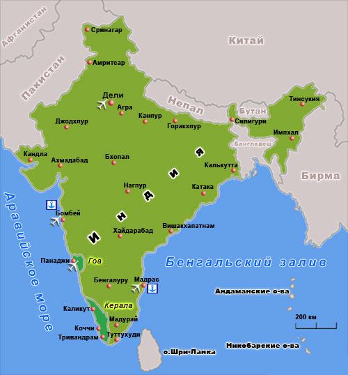 map 16 - Индия