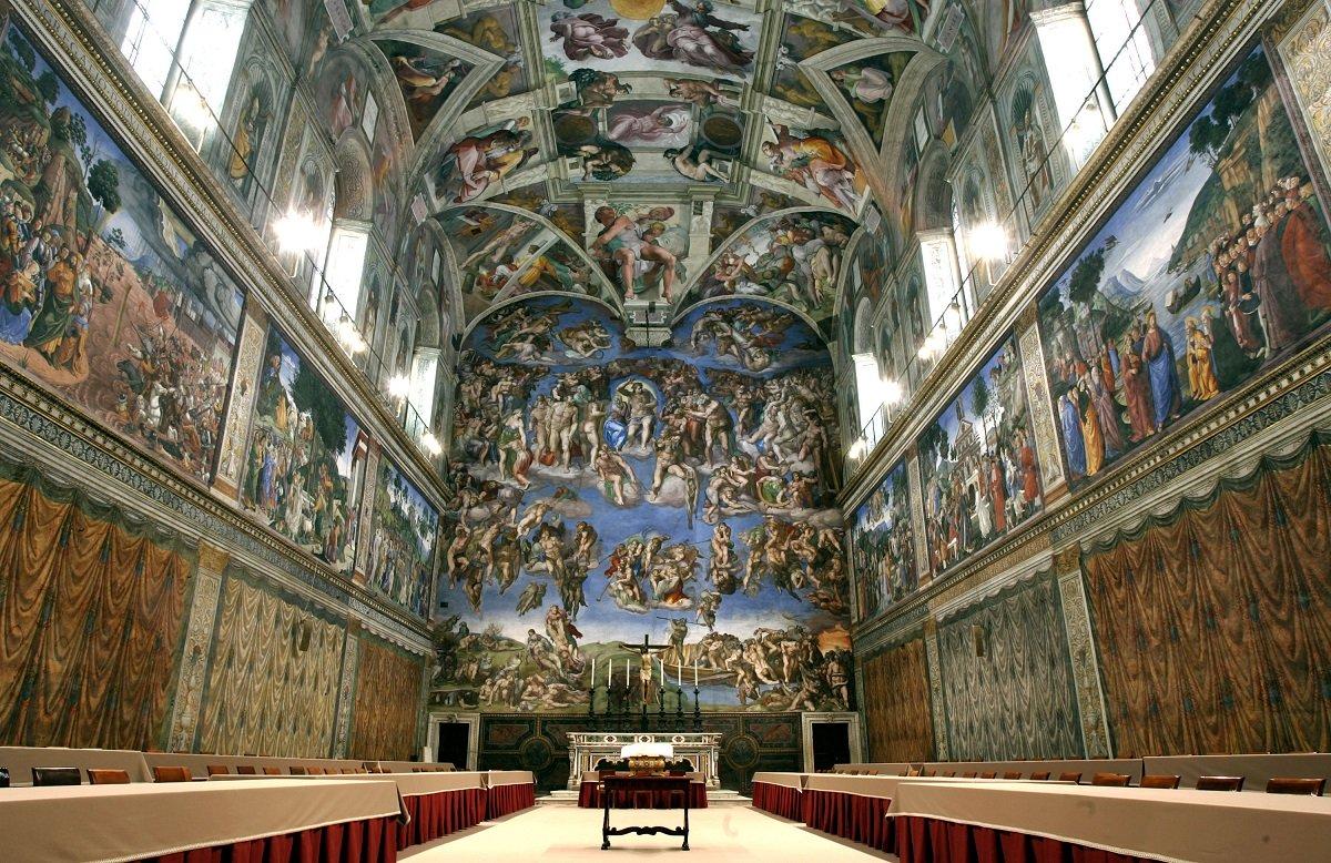 cappella sistina interior - Путешествие в Ватикан. Невероятная Сикстинская капелла